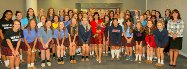 Speaking at Parish Academy (Dallas, TX) on Conformity and Female image in the Media